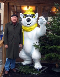 Laurent and the polar bear