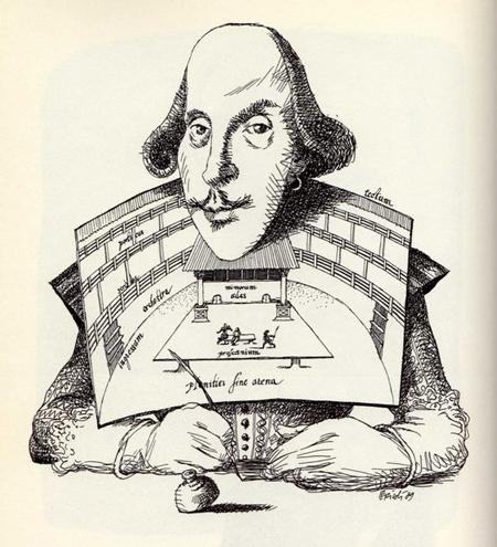 Shakespeare-Caricature