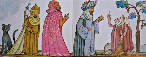 Image result for la befana with the 3 kings painting