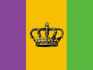 The Official Flag Of Mardi Gras In New Orleans And The Surrounding Counties In Southern Louisiana