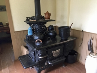 And the centre of any kitchen - the cast iron stove. This one all the way from Ontario.