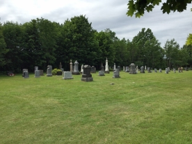 The cemetary dates from 1884 and is still used today.