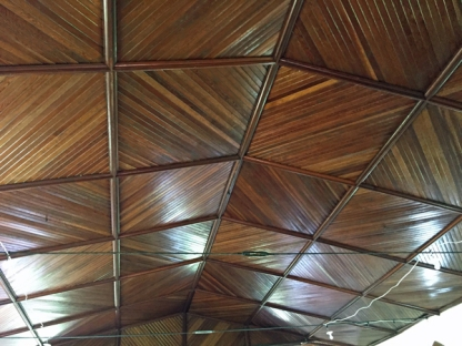 A beautiful example of the woodwork often found in church ceilings on the Island.